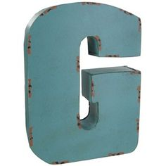 Large Red, Blue or Brown Metal Letter - G