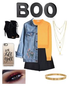 """""""F A L L"""" by thatgirlangie on Polyvore featuring Miu Miu, RED Valentino, Crate and Barrel, JustFab, Cartier and Casetify"""