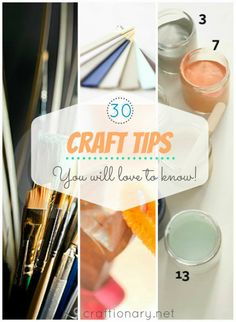 25 Craft tips and tricks. Tips to help DIY home projects. Painting tips. Hot glue tips. Cutting tips. Paint color tips. Handmade craft tips. Home DIY tips. Cute Crafts, Crafts To Do, Creative Crafts, Diy Crafts, Simple Crafts, General Crafts, Craft Organization, Diy Projects To Try, Crafty Projects