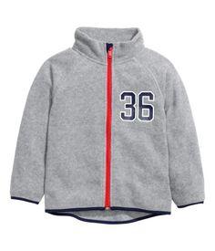 Fleece Jacket | Gray melange | Kids | H&M US