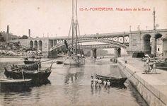 Postales antiguas de Galicia: Atracadero de la Barca (Pontevedra) - hotelgranproa.com