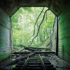 abandoned railroad tunnel...