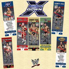 WWE Wrestling Birthday Invitations & More Personalized Custom Made #Personalized #BirthdayChild