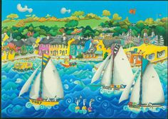 'Working Boats off Flushing' - Nanette Martin.