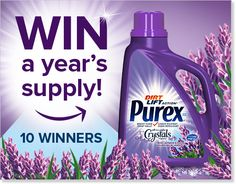 Purex Out with the Snow, In with the Lavender Blossoms Contest