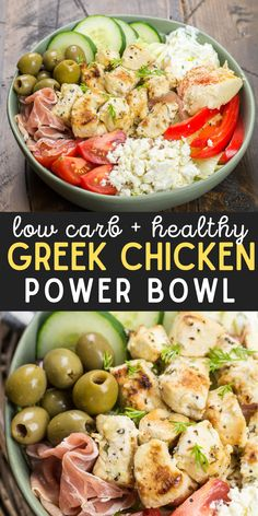 Lunch Recipes, Healthy Dinner Recipes, Cooking Recipes, Meal Prep Salads, Healthy Recipes For Dinner, Healthy Chicken Meals, Healthy Dinner Sides, Healthy Family Dinners, Low Carb Chicken Recipes