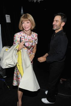 Anna Wintour - MBFW: Backstage at Marc Jacobs