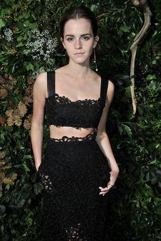 Emma Watson at PFW Valentino show and Vogue Foundation Gala