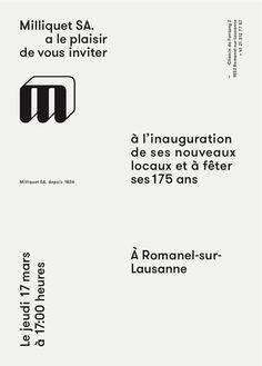 Invite designed by Arnaud Milliquet (using GT Walsheim) via Grilli Type (Facebook)