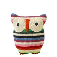 Anne-Claire Petit Owl Cusion, Mix Colour