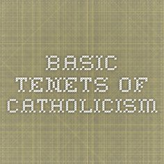 Tenets of catholic faith