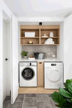 Who would've thought a laundry cupboard could be such a feast for the eyes? Fantastic Farmhouse Stylish and Functional Small Laundry Rooms ideas for home decorating interior decor ideas Laundry Cupboard, Laundry Nook, Small Laundry Rooms, Laundry Closet, Laundry Room Organization, Laundry In Bathroom, Bathroom Pink, Bathroom Marble, Small Utility Room