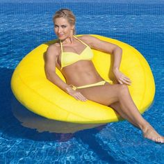 Beanbag Chair Pool Float - already counting down days til next summer!