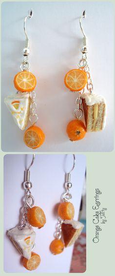 Orange Cake Earrings by Talty.deviantart.com