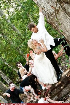 Awesome Zombie wedding photo.