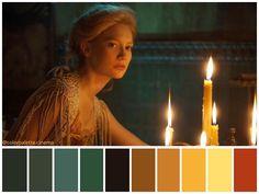 Movie Color Palette, Colour Pallette, Cinema Colours, Color In Film, Color Script, Crimson Peak, Color Grading, Color Harmony, Color Studies