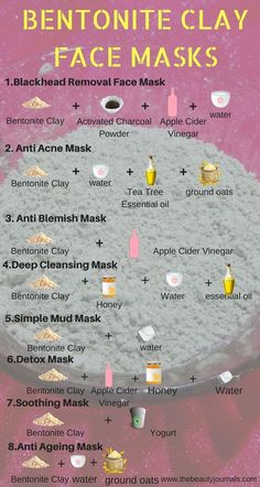 When Bentonite Clay is used internally it helps with digestion pH balance constipation oral care providing minerals to the body various skin problems heartburn stomach ac. Diy Skin Care, Skin Care Tips, Skin Care Masks, Facial Skin Care, Bentonite Clay Face Mask, Bentonite Clay Benefits, Uses For Bentonite Clay, Calcium Bentonite Clay, Bentonite Clay Toothpaste