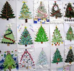arboles de navidad originales hechos por niños