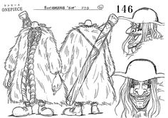 Jaya: Skypiea. Doc Q model sheet, Character design, Official reference, Settei --- Blackbeard Pirates