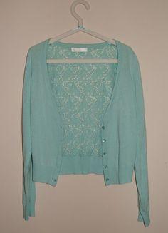 Kup mój przedmiot na #Vinted http://www.vinted.pl/kobiety/kardigany/9827684-mietowy-sweterek-narzuta-kardigan-z-koronka-cropp