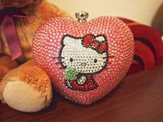 Bling Heart-shaped Hello Kitty Crystal Hard by trendyblingbling