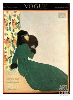 Vogue Cover - October 1918 Regular Giclee Print by Helen Dryden at Art.com