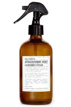 The main ingredients in this herbal mist—lavender and thyme—have been clinically proven to reduce feelings of stress and imbalance naturally. Spray it around your bedroom (and anywhere else you go to relax) and on your linens.  Fig Yarrow Atmosphere Mist in Lavender Thyme, $24, figandyarrow.com.   - HarpersBAZAAR.com