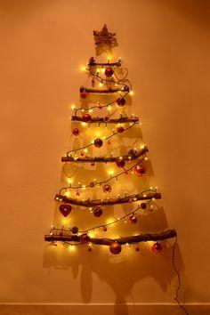 Retromantisch retro fashion blog DIY Christmas tree branches Kerstboom takken ster