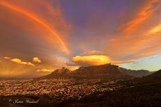 Sunset in Cape Town Cape Town South Africa, Places Of Interest, Far Away, Live, Wonders Of The World, Monument Valley, Places To Visit, Nordic Walking, Vacation