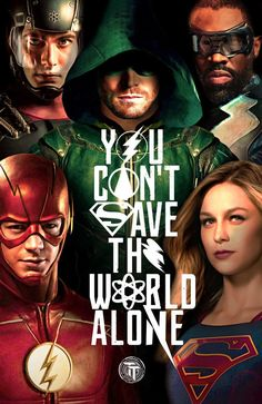 DCTV Poster (Justice League Style) . . . . #arrow #artist #barryallen #supergirl #legendsoftomorrow #atom #whitecanary #melissabenoist #blacklightning #justiceleague #cw#dc #digitaledit