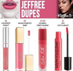 Kat Von D liquid lipstick dupes in the shade Jeffree // Kayy Dubb ♡