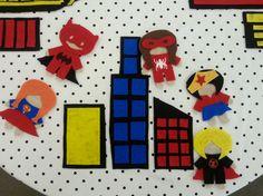 Superhero Felt Table #srp15