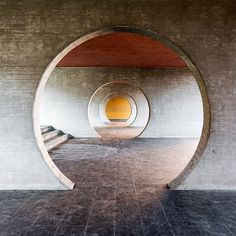 """Housing complex in Novazzano, Switzerland by Mario Botta, 1992."