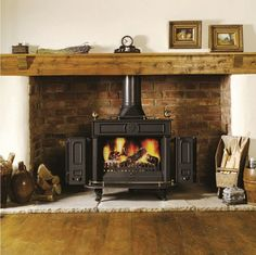 106 Best Woodstove Surrounds Images Fire Places Rustic Mantel