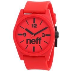neff Men's Daily Watch ($23) ❤ liked on Polyvore featuring men's fashion, men's jewelry, men's watches, mens watches, mens watches jewelry, mens sports watches and mens sport watches