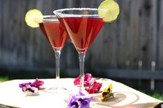 Pomegranate cocktails for Rosh Hashanah