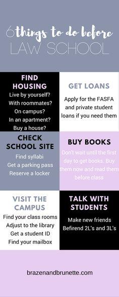 6 things to do before law school | brazenandbrunette...