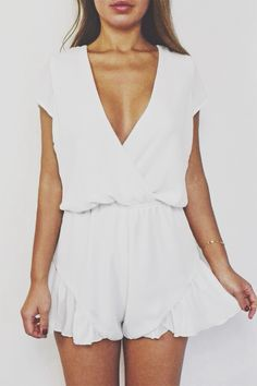 cute flowy short sleeve romper