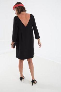 Robe dos nu GARANCE noire (disponible taille 1)