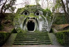 Parco Di Mostri, Bomarzo, north of Rome. A 15th century spooky garden full of giant animals, monsters and all sorts of twisted things. For devotees of Bruce Campbell and Evil Dead 3 it's a cultural paradise. And the food there is astonishing as in every village, town, campsite, worker's hut and cafe in Italy.