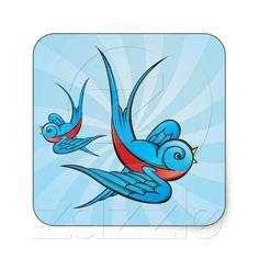 Shop Rockabilly Tattoo Swallow Bird Stickers created by oddlotpaperie. Rockabilly Tattoos, Rockabilly Art, Rockabilly Wedding, Bird Tattoo Back, Bird Tattoo Wrist, Tattoo Fonts Generator, Swallow Bird Tattoos, Girl Face Drawing, Bird Graphic