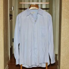 ERMENEGILDO ZENGA LG SLEEVE DRESS SHIRT MADE IN SPAIN 100% COTTON #ErmenegildoZegna