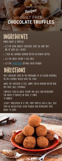 46 Ideas for chocolate truffles recipe cake Dannette May Recipes, Clean Eating Recipes, Clean Eating Snacks, Sweet Recipes, Real Food Recipes, Snack Recipes, Recipies, Dessert Recipes, Melting Chocolate Chips