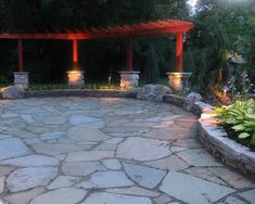 Irregular Stone Patio Design