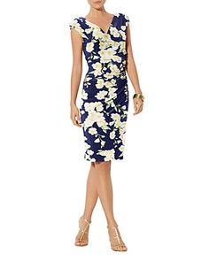 Lauren Ralph Lauren Floral Print Matte Jersey Dress | Bloomingdale's