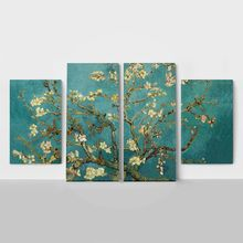 Product partial 4panel van gogh almond blossom