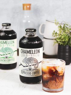 Learn the difference between Chameleon's classic Black Cold Brew Coffee Concentrate and newest Espresso Cold Brew Coffee Concentrate. Cold Brew Coffee Concentrate, Cold Brew Coffee Recipe, Coffee Photography, Light Photography, Coffee Bottle, Whiskey Bottle, Coffee Recipes, Drink Recipes, Espresso Coffee