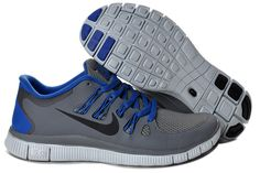 4d85f470b8 Nike Free 5.0+ Mens Deep Gray Royalblue Running Shoes Cheap Nike Shoes  Online, Nike