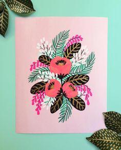 Jess Phoenix Paints Vibrant Blooms From Her Imagination