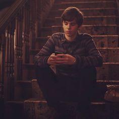Always on his phone. #bates #motel